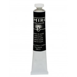 MIR Acrylic Creamy tube 60ml. MARS BLACK